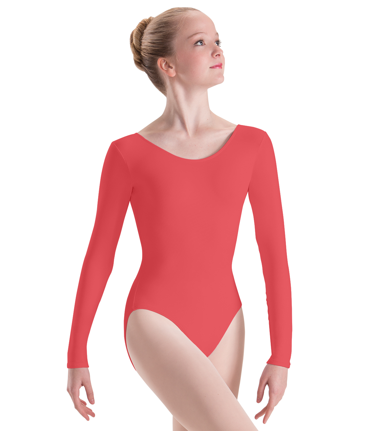 5ce56679dce1f Long Sleeve Leotard by Motionwear. Sunset Coral