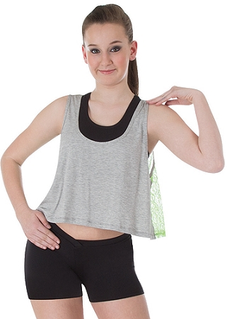 Swing Crop Lace Back Pullover by Body Wrappers #0: 6031 f