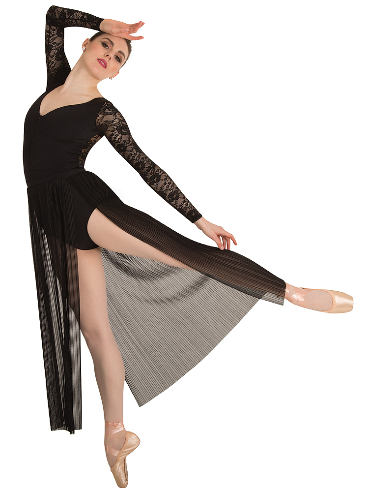 Long Pleated Chiffon Skirt By Body Wrappers