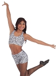 Sparkle Cheetah Hot Short by Body Wrappers