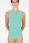 Sleeveless Zip Front Princess Leotard by Baltogs