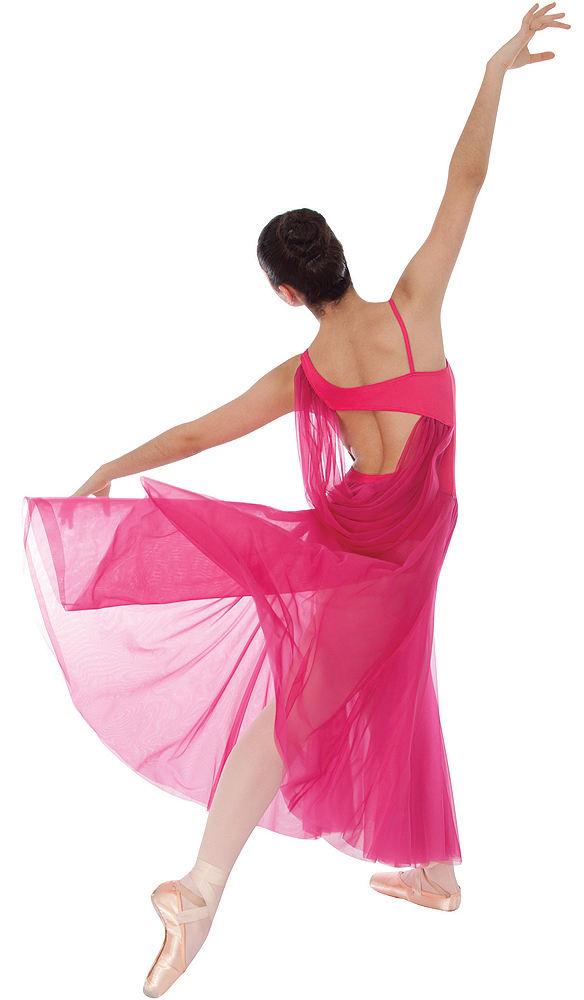 Asymmetrical Cowl Back Dance Dress By Body Wrappers