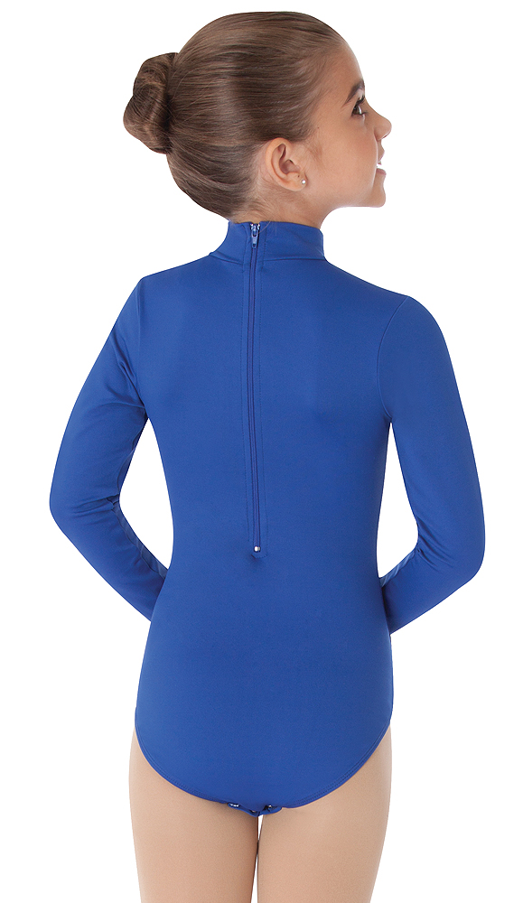 3f851e985a Zip Back Mock Turtleneck Long Sleeve Leotard by Body Wrappers