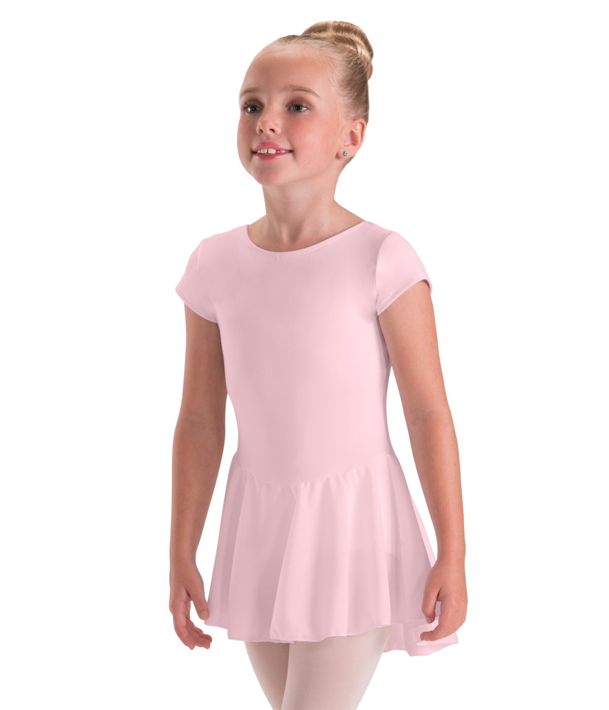 24606d67c72d Childrens Bow Back Cap Sleeve Leotard with Skirt Attached by Motionwear