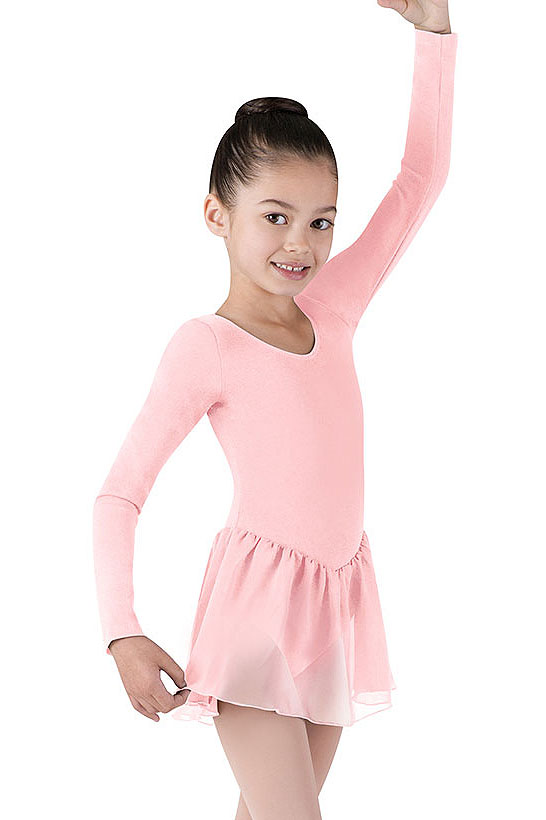 61d5ddf37736 Girls Long Sleeve Leotard with Skirt Attached by Bloch
