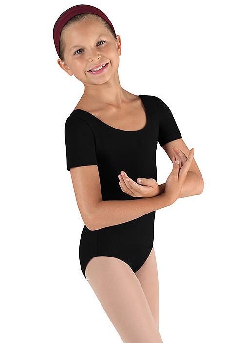 Childrens Short Sleeve Leotard By Bloch