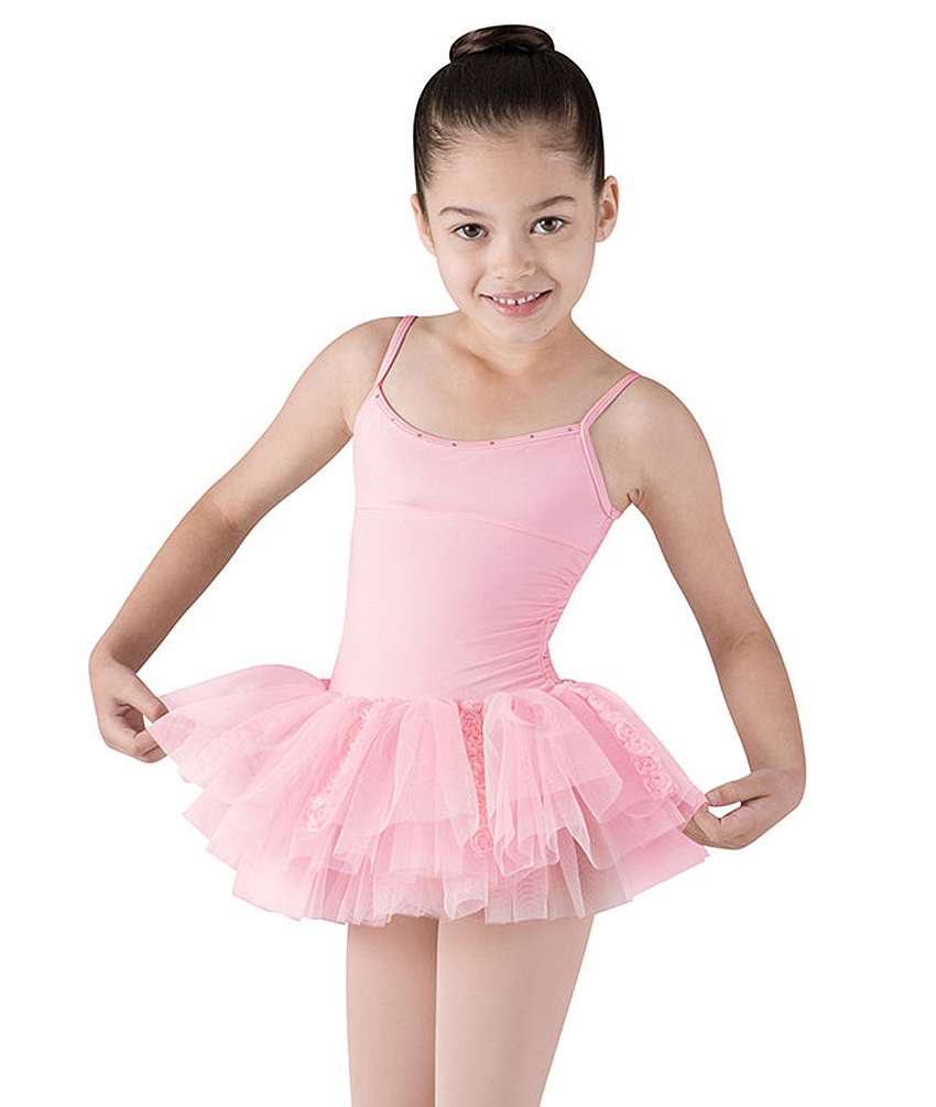 Girls Miliani Rosette Tutu Leotard By Bloch