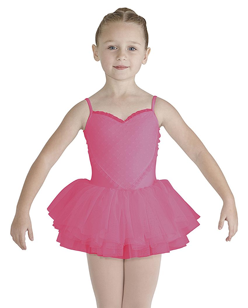 Girls valentine heart front tutu dress by bloch