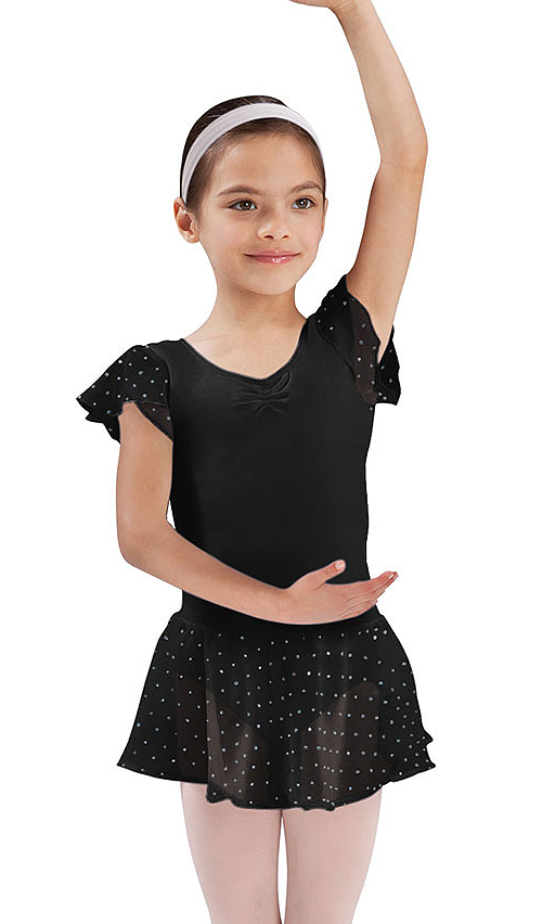 girls sequin decorated skirt by bloch