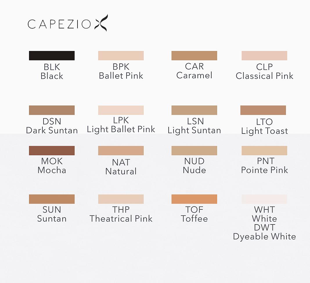 9e31648c204e Capezio Tights Color Guide