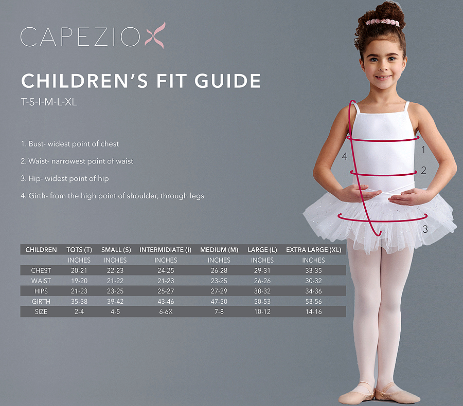 Capezio Children S Fit Guide
