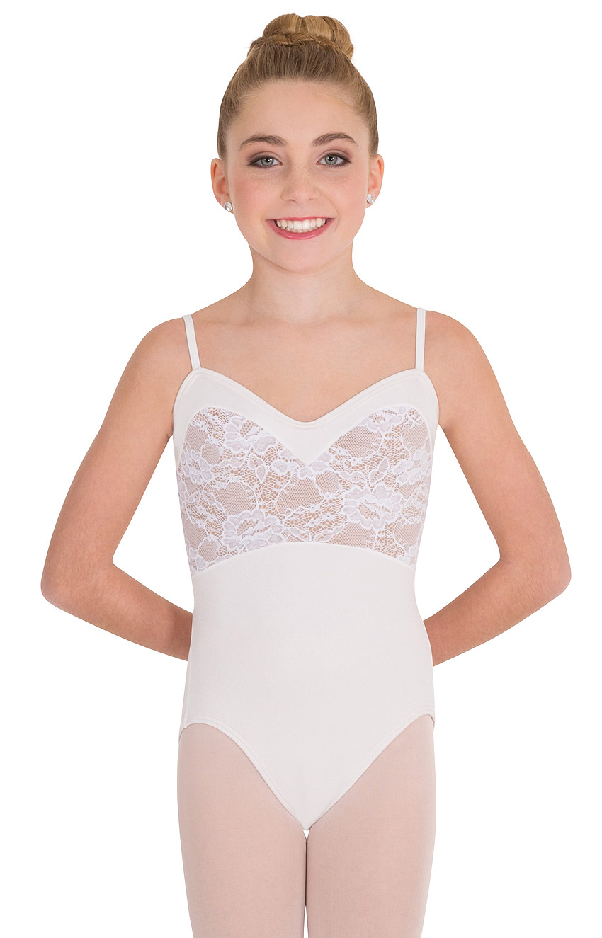 1678749fd2 Home   Bodywear   Children   Leotards   Sleeveless   Tween Sweetheart Lace  Bodice Leotard by Premiere