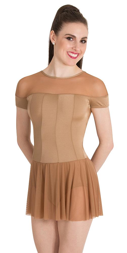 Illusion Neckline Leotard Dress By Premiere