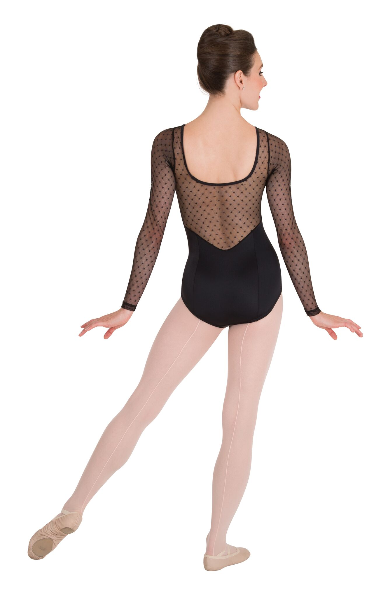 3e0a890164c4f Diamond Mesh Long Sleeve Leotard by Premiere