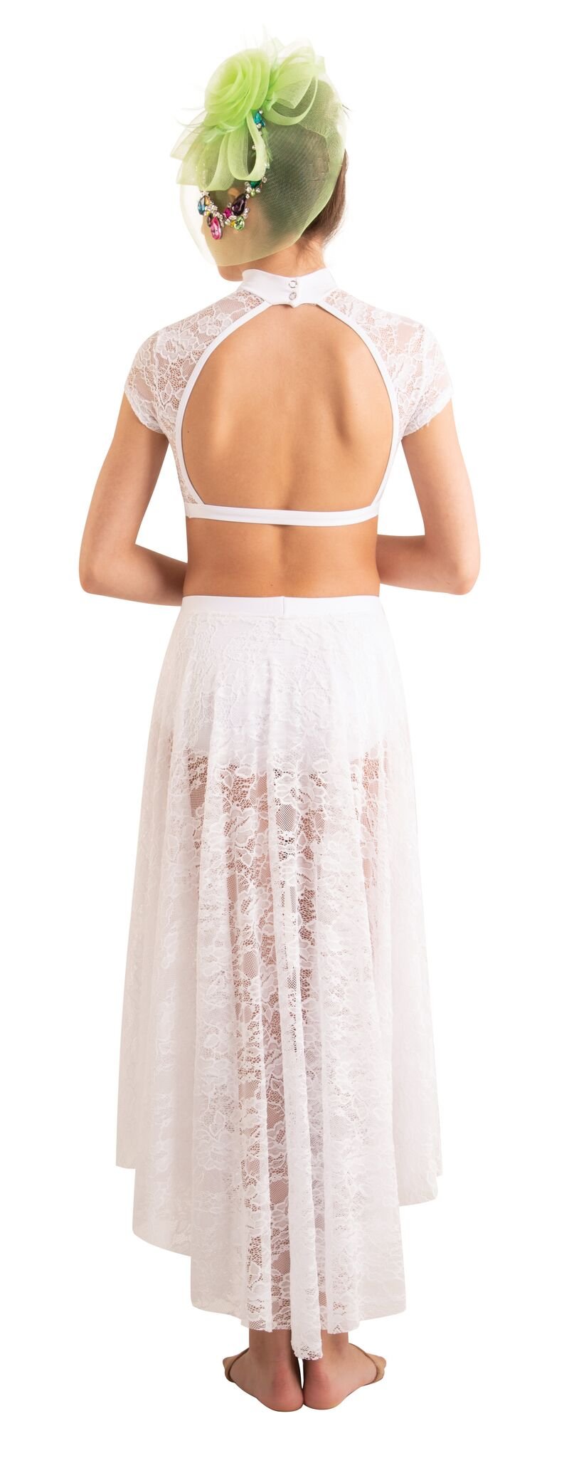 Lace Convertible Long Side-to-Front Skirt by Body Wrappers