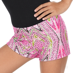 Girls Kaleidoscope Shorts by Eurotard