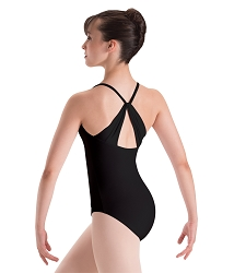 Silkskyn Drape Back Camisole Leotard by Motionwear