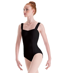 Silkskyn Wide Strap Princess Seam Leotard by Motionwear