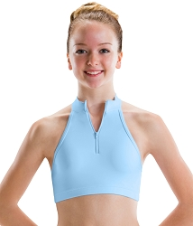 Zip Front 3-Strap Back Top by Motionwear
