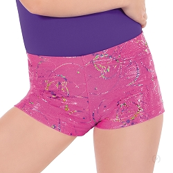 Girls Metallic Splatter Shorts by Eurotard
