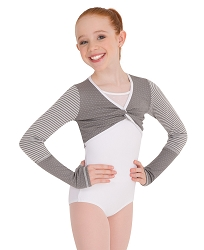 Girls Twist Front Crop Pullover by Body Wrappers