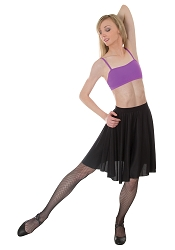Matte Finish Above-the-knee Circle Skirt by Body Wrappers