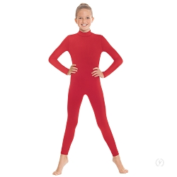 Children's Unisex Mock Neck Long Sleeve Unitard by Eurotard