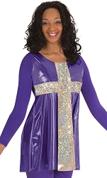 Adult Metallic Pullover by Body Wrappers