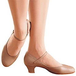 Leather Junior Footlight Character Shoe by Capezio