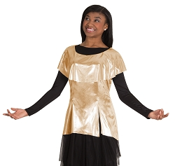 Childrens Metallic Tunic Pullover by Body Wrappers