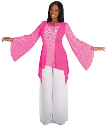 Drapey Lace Panel Tunic by Body Wrappers
