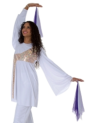 Childrens Stained Glass Asymmetrical Bell Sleeve Tunic by Body Wrappers
