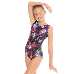 Metallic Graffiti Leotard by Eurotard