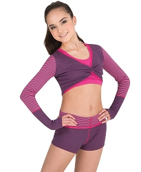 Twist Front Crop Pullover by Body Wrappers