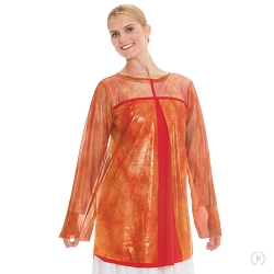 Flame Of Fire Split Layer Tunic by Eurotard