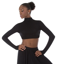 Convertible Mock Neck Long Sleeve Shrug by Body Wrappers