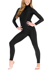 Long Sleeve Mock Neck Unitard with Back Zipper by Baltogs