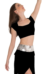 4 Inch Sequin Cummerbund by Body Wrappers