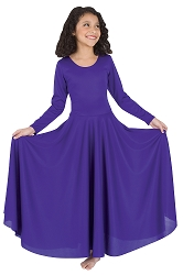 Childrens Loose Fit Long Sleeve Dance Dress by Body Wrappers