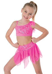 Princess Aurora Hearts Delight Pull On Skirt by Body Wrappers