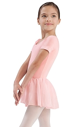 Girls Short Sleeve Leotard with Skirt Attached by Bloch