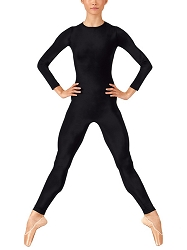 Long Sleeve Crew Neck Unitard with Back Zipper by Baltogs
