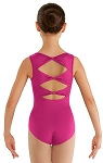 Childrens Gladiolus Bow Back Tank Leotard by Bloch