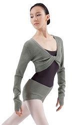 Antlia Twist Front Crop Sweater by Bloch