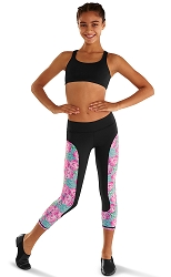 Printed Cropped Legging by Leo