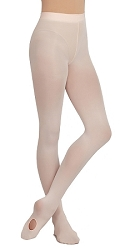 Childrens Self Knit Waistband Ultra Soft Transition Tight by Capezio