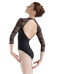 The Kate Lace Sleeve Leotard by Bloch