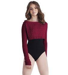 Cable Knit Crop Sweater by Mirella