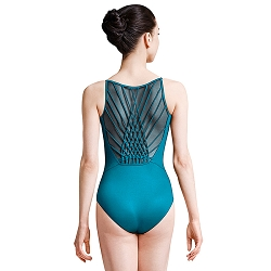 *NEW* Jozette for Mirella Weave Back Camisole Leotard