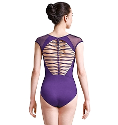 *NEW* Jozette for Mirella Braid Back Cap Sleeve Leotard